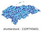 honduras map collage of random... | Shutterstock .eps vector #1109743601