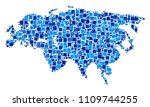 eurasia map composition of... | Shutterstock .eps vector #1109744255