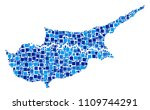 cyprus countries map mosaic of... | Shutterstock .eps vector #1109744291