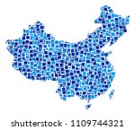china map mosaic of random... | Shutterstock .eps vector #1109744321