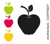 illustration of apples. vector. ... | Shutterstock .eps vector #110974607