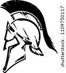 spartan helm abstract design | Shutterstock .eps vector #1109750117