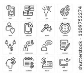 set of 16 icons such as recruit ... | Shutterstock .eps vector #1109752274