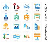 set of 16 icons such as... | Shutterstock .eps vector #1109753675