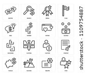 set of 16 icons such as star ... | Shutterstock .eps vector #1109754887