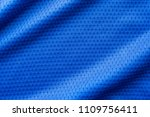 blue color fabric sport... | Shutterstock . vector #1109756411