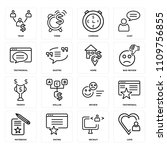 set of 16 icons such as love ...