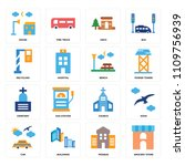set of 16 icons such as grocery ... | Shutterstock .eps vector #1109756939