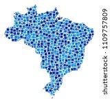 brazil map composition of... | Shutterstock .eps vector #1109757809
