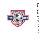vector badge for fun club of... | Shutterstock .eps vector #1109761874
