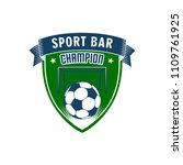 sport bar champion vector icon. ... | Shutterstock .eps vector #1109761925