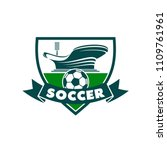 soccer club or football college ... | Shutterstock .eps vector #1109761961