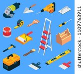 home repair tool kit. vector... | Shutterstock .eps vector #1109763911