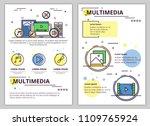 multimedia web banner  poster ... | Shutterstock .eps vector #1109765924