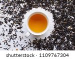earl grey tea surrounded by a...   Shutterstock . vector #1109767304