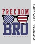 freedom bro glasses land of... | Shutterstock .eps vector #1109773841