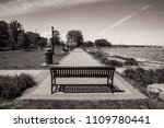 relaxing day at the park  black ... | Shutterstock . vector #1109780441