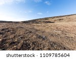 empty land with blue sky on the ... | Shutterstock . vector #1109785604
