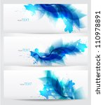 set of three banners  abstract... | Shutterstock .eps vector #110978891