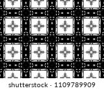 ornament with elements of black ... | Shutterstock . vector #1109789909