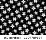 ornament with elements of black ... | Shutterstock . vector #1109789939