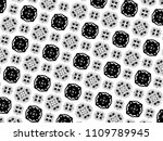 ornament with elements of black ... | Shutterstock . vector #1109789945