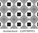 ornament with elements of black ... | Shutterstock . vector #1109789951