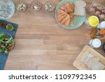 top view cooking on wood table... | Shutterstock . vector #1109792345