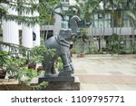 a elephant statue in the city... | Shutterstock . vector #1109795771