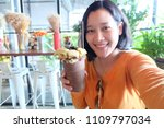 selfie asian woman  self... | Shutterstock . vector #1109797034