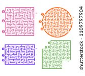 set of labyrinths  mazes... | Shutterstock .eps vector #1109797904