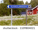 sigpost with direction to the... | Shutterstock . vector #1109804021