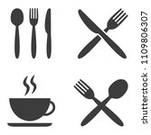 set of cafe icons on white... | Shutterstock .eps vector #1109806307