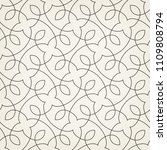 pattern with thin curl lines... | Shutterstock .eps vector #1109808794