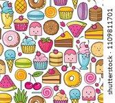 seamless background of sweet... | Shutterstock .eps vector #1109811701