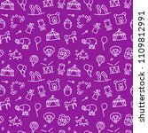 circus pattern in linear style. ... | Shutterstock .eps vector #1109812991