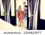 asian family on vacation | Shutterstock . vector #1109823977