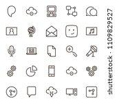 social network icon set....   Shutterstock .eps vector #1109829527