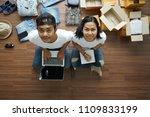 selling online ideas concept ... | Shutterstock . vector #1109833199
