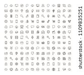 internet icon set. collection... | Shutterstock .eps vector #1109835251