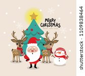 christmas greeting card with... | Shutterstock .eps vector #1109838464
