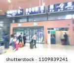 traveler walking at the airport ... | Shutterstock . vector #1109839241