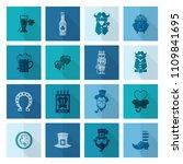 saint patricks day icon set.... | Shutterstock .eps vector #1109841695