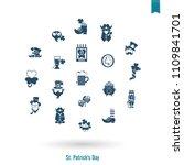 saint patricks day isolated... | Shutterstock .eps vector #1109841701