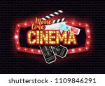 movie time poster. cinema... | Shutterstock .eps vector #1109846291