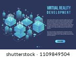 augmented reality concept... | Shutterstock .eps vector #1109849504