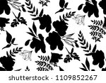 floral seamless pattern with... | Shutterstock .eps vector #1109852267