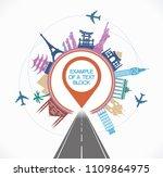 travel destinations concept.... | Shutterstock .eps vector #1109864975