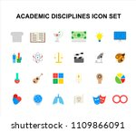 color icons set. academic... | Shutterstock .eps vector #1109866091