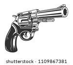 vintage monochrome six shooter... | Shutterstock .eps vector #1109867381